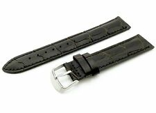 18mm Dark Brown Genuine Leather Watch Strap Band For Tissot Clasp/Buckle Pins