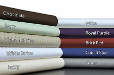 Brielle 600 Plus Thread Count Egyptian Quality Cotton Sateen Premium Sheet Set