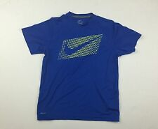 Dri-Fit Mens Blue Sport T-Shirt Short Sleeve100% Polyester Nike Graphic Size XL