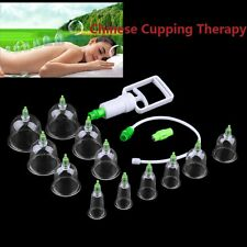 6/12Cups Chinese Body Cupping Massage Set Acupuncture Medical Vacuum KFR