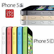 Apple iPhone 5C 5S Unlocked GSM 8GB/16GB/32GB 4G LTE Smartphone - All Colors FT8
