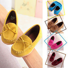 Kids Girls Princess Shoes Party Ankle Boots Bow Flat Shallow Children Shoes New