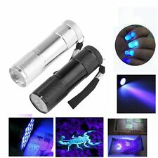 9 LED UV Ultra Violet Flashlight Blacklight 395 nM Detection Torch Light Lamp