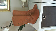 Ladies boots. Tan suede. Brand New. RRP $299. Sizes 37, 38, 39