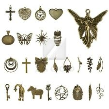 30 Style 2-35pcs Lots Antique Brass Metal Charm Pendants Findings Jewelry Making
