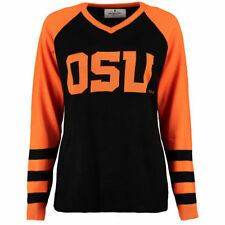 Oregon State Beavers Women's Logo V-Neck Sweater - Black
