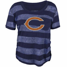 Chicago Bears Juniors Bolder Burnout T-Shirt - Navy Blue - NFL
