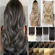 100% Women Clip in Mega Thick One Piece 3/4 Head Curly Hair Extensions Ombre THH