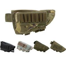 Outdoor Tactical Military Hunting Ammo Pouch Holder + Leather Pad Black B4S3