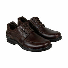 Clarks Sherwin Limit Mens Brown Leather Casual Dress Lace Up Oxfords Shoes
