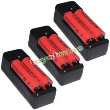 6x 3.7V 18650 UltraFire Li-ion 6800mAh Rechargeable Battery +3x 18650 Charger