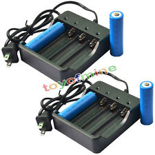 4x 18650 3.7V GTL 5000mAh Li-ion Rechargeable Battery for LED Torch + 2x Charger