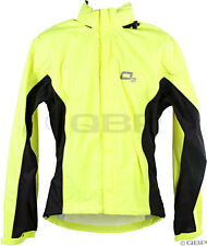 O2 Primary Rain Jacket with Hood: Hi-Vis Yellow~ 2XL
