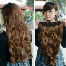 One Piece Girl Woman long curl/curly/wavy hair extension clip-on U Pick Color i