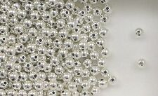 """925 Sterling Silver 4mm Seamless Round Spacer Beads, .042"""" Hole, Choice of Price"""
