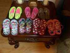 girls shoes, summer, spring, 9 - 1, flipflops, jellies, swim shoes