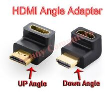 2x HDMI 90 270 Degree Angle v1.4 Adapter Male to Female For 1080p 3D TV HDTV AU
