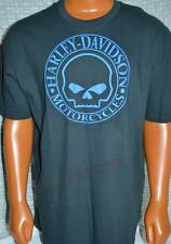 NWT Harley Davidson Mens Blue Graphite Willie G *Classic Attitude* Tee Shirt