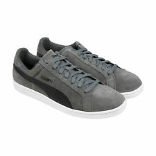 Puma Puma Smash Suede Leather Mens Gray Suede Lace Up Lace Up Trainers Shoes