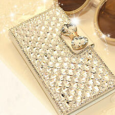 Luxury Bling Bowknot Crystal Diamond Wallet Flip Case Cover For iphone / samsung