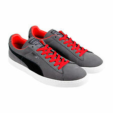 Puma Suede Classic + Mens Gray Suede Lace Up Sneakers Shoes