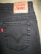 LEVIS 512 Perfectly Slimming Boot Cut Stretch Black Denim Jeans Womens Size 12 S