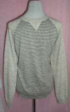 MENS JUMPER PRIMARK BRAND NEW WITH TAGS GREY STRIPED SIZE M