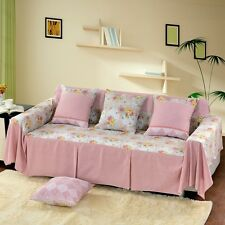 Floral Cotton Blend Slipcover Sofa Cover TauL Protector for 1 2 3 4 seater hyf