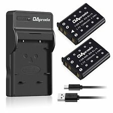 OAproda EN-EL10 Battery 2 Pack and Ultra Slim Micro USB Charger for Nikon S200 /