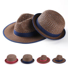 Fashion Unisex Straw Bowler Hat & Panama Hat Hollow Out Clothe Derby Style Hats