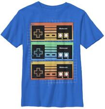 Youth: Nintendo- Neon Controls Kids T-Shirt Blue Shirt Tee New