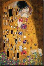 The Kiss, c.1907 (detail) Stretched Canvas Print by Klimt, Gustav
