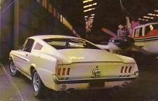 1967 FORD MUSTANG 2+2 FASTBACK*YOU'RE AHEAD IN A FORD ALL THE WAY*POSTCARD