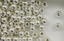 925 Sterling Silver 8mm Seamless Round Spacer Beads, Choice of Lot Size & Price