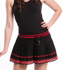 Innocent Life Style Bow Sailor Mini Skirt Ladies Black Red Goth Emo Girls