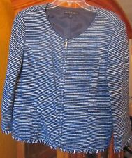 * LAFAYETTE 148 NEW YORK NUBLM  NWT $498 blue women's jacket blazer stripes