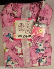 Joe Boxer Women's 2-pc Flannel Pajama/Sleepwear Set, Snowbear/Snowflakes,Choose