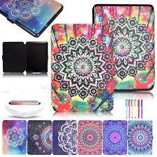 Magnetic Patterned Smart Leather Wallet Stand Card Case Cover For Amazon Kindle