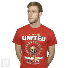 LARGE ALWAYS UNITED 20 TIMES CHAMPIONS RED Cotton T SHIRT