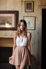 NWT Anthropologie Astral Swing Skirt by Sunday in Brooklyn Nude 10 5star Reviews