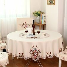 Modern American Country Style Vintage Handmade Table Cloth Round Table Cloth