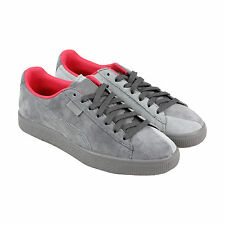 Puma Puma X Staple Clyde Mens Grey Suede Lace Up Trainers Shoes