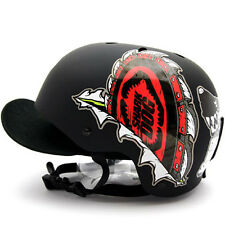 Motorcycle Helmet Decal Sticker Snowboarding Biker Hard Hat Sticker-Shark DOG 03