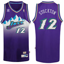 John Stockton Utah Jazz adidas Hardwood Classic Swingman Jersey - Purple - NBA