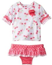 Nannette Toddler Girls 2 Piece Cherry Print Bathing Suit Swimsuit 2t 3t 4t nwt