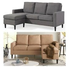 Sectional Sofa with Reversible Chaise Small Space Loveseat Lounge Couch Bed
