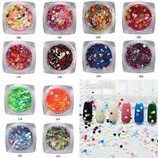 1 Box Plum Flower Shape Nail Art Sequins Paillette Glitter Decor Bluelans