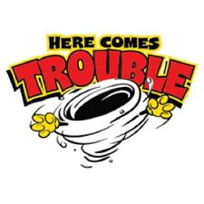 Here Comes Trouble T-Shirt Funny Tornado Kids Youth Baby Tee