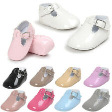 Newborn Baby Girl Boy Soft Sole Crib Shoes Toddler Leather Sneakers 0-18M