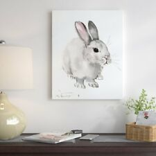 East Urban Home 'Bunny 3' Painting Print on Gallery Wrapped Canvas
